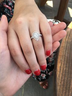 Swooning over this double halo pear shaped engagement ring! Swooning over this double halo pear shaped engagement ring! Engagement Solitaire, Pear Shaped Engagement Rings, Engagement Ring Shapes, Dream Engagement Rings, Vintage Engagement Rings, Double Halo Engagement Ring, Pear Shaped Rings, Engagement Jewellery, Designer Engagement Rings