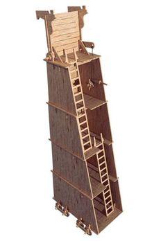 Endwood Castle - The Siege Tower - Siege Weapon - Castles | MakeCNC.com
