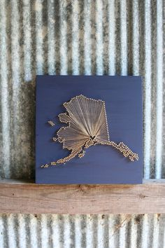 Alaska Love // Reclaimed Wood Nail and String Art Tribute to The Last Frontier. $110.00, via Etsy.