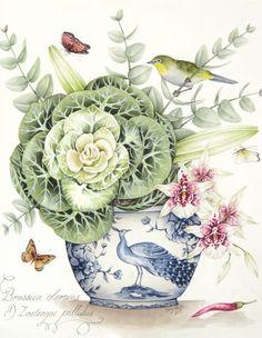 ru / Foto # 5 – Kelly Higgs – masunja - My CMS Watercolor Sketch, Watercolor Paintings, Original Paintings, Vintage Flower Prints, Vintage Flowers, Botanical Drawings, Botanical Prints, Abstract Flower Art, Rose Wallpaper