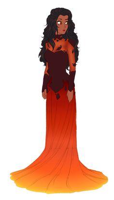 Fire Elsa!!!  by Choukolina.deviantart.com on @deviantART Reminds me of Lava Girl for some reason...