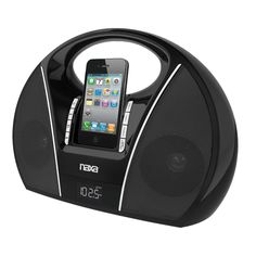 Naxa Portable PLL Digital FM Stereo Radio with Dock for iPod and iPhone