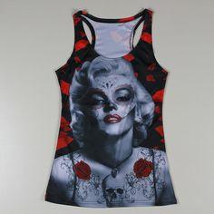 Encontrar Más Camisetas de Tirantes Información acerca de Nuevo estilo fresco diseño 3D Marilyn Monroe Sexy Lady Tank Tops mujeres tanques Shirts moda O cuello chalecos mujer tanques camisola impresión, alta calidad camisa xxl, China tanque de 2009 Proveedores, barato tanque de gráficos de Hollise Famous Shops en Aliexpress.com