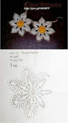 Watch The Video Splendid Crochet a Puff Flower Ideas. Phenomenal Crochet a Puff Flower Ideas. Crochet Jewelry Patterns, Crochet Earrings Pattern, Crochet Flower Patterns, Crochet Accessories, Crochet Flowers, Flower Applique, Crochet Doily Diagram, Crochet Flower Tutorial, Crochet Motif