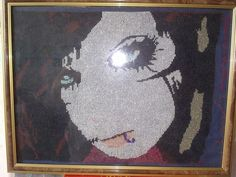andy biersack cross stitch I made for my daughters 16th birthday today hope u like..