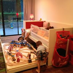 Hidden Train table / ikea bed