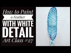 A tutorial showing how to Paint a watercolour feather with white gel pen detail. Materials needed Watercolour paints and paper Pencil White gel pen Paint bru. Watercolor Feather, Watercolour Painting, Beginner Art, White Gel Pen, Detail Art, Watercolor Techniques, Art For Kids, Youtube, Art For Toddlers