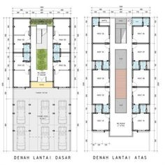 No photo description available. Guest House Plans, Simple House Plans, House Floor Plans, Studio Apartment Floor Plans, Hotel Floor Plan, Hotel Room Design, Boarding House, Student House, Room Planning
