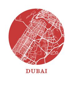 Pour Owen - make cystine ones with each city we lived in with addresses and year we moved there (Brixton, mortlake, Dubai and horley) Dubai Map Print City Map Poster by OMaps on Etsy Vintage Maps, Antique Maps, Dubai Map, City Map Poster, Paris Map, Old Maps, Creative Posters, City Maps, Funny Art