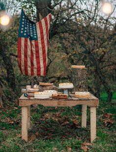 Americana-inspired dessert table