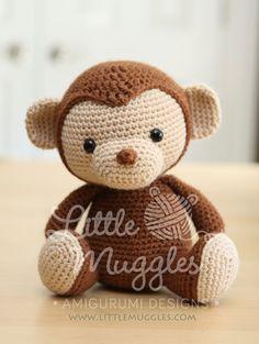 Amigurumi Crochet patrón millas el mono por littlemuggles en Etsy