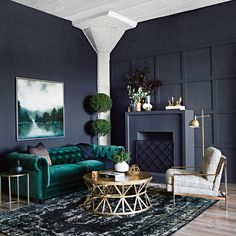 Maybe you're a bit more Evocative and want to share luxe textures and colors  with those who enter your home. #LivingSpaces
