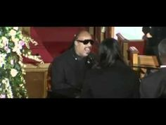 Stevie Wonder Sings Love's In Need Of Love Today at Whitney Houston Fune...