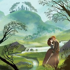 This was my final piece for the #timeaftertime show @rothick_art_haus ! #outlander #illustration