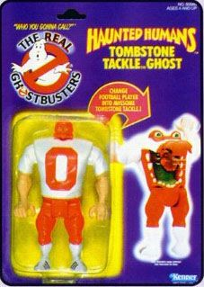 THE REAL GHOSTBUSTERS HAUNTED HUMANS TOMBSTONE TACKLE GHOST ACTION FIGURE