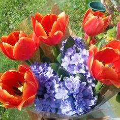 Graveside flowers, no filter