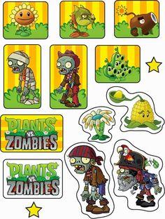 Plantas vs Zombies: Toppers y Wrappers para Imprimir Gratis.