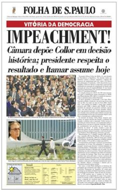 Resultado de imagem para 1992 manchetes