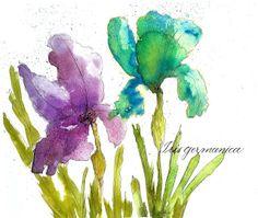 Art du Jour by Martha Lever: Color Drop Irises