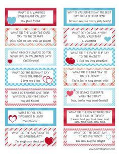 valentine's day riddle cards