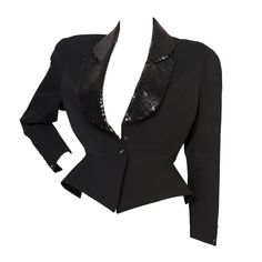 Vintage Thierry Mugler Jacket | From a collection of rare vintage jackets at https://www.1stdibs.com/fashion/clothing/jackets/
