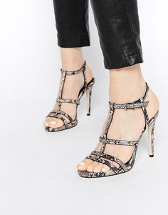 ASOS | ASOS HALSTEAD Caged Heeled Sandals at ASOS