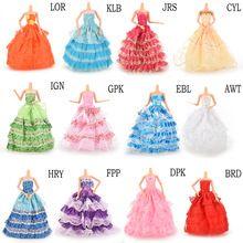 1 Pc main Party Doll robe de vêtements de mariage de princesse robe vêtements pour Barbie Doll cadeau bébé jouets plus de Style(China (Mainland))