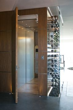 The Wave House - modern - wine cellar - vancouver - kbcdevelopments  Coolest elevator ever