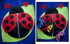 Lady bug mommy and babies.  Busy Book.