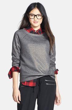 Halogen® Foiled Sweatshirt (Regular & Petite) available at #Nordstrom