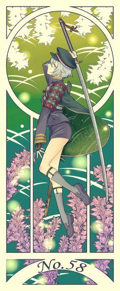 埋め込み画像 Touken Ranbu, Anime Guys, Manga Anime, Anime Art, Manga Illustration, Character Illustration, Katana, Token, Image Manga
