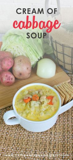 Cream of Cabbage Soup   Vegetarian Soup Recipe   Winter Vegetable Recipes   Soup Recipe   Food Made Simple