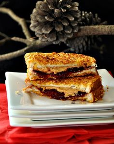 cornflakes crusted grilled peanut butter jelly sandwich