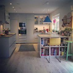 New Kitchen Ikea Veddinge Ideas Brick Wall Kitchen, Kitchen Tiles, Kitchen Colors, Rustic Kitchen, New Kitchen, Kitchen Decor, Kitchen Design, Small Open Kitchens, Grey Kitchens