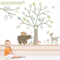 Related image. Nursery StickersWall ...  sc 1 st  Pinterest & Forest Friends Fabric Wall Stickers | Forest friends Wall sticker ...