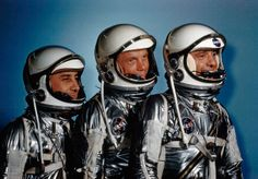 The First 3  U.S. Astronauts  Gus Grissom, John Glenn and Alan Shepard.