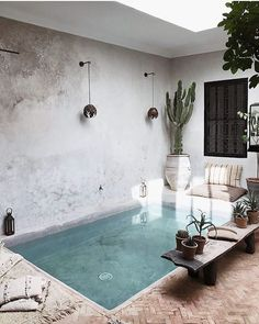 La Maison Marrakech in Marrakech, Morocco. Photography by Alexia Roux. La Maison Marrakech in Marrakech, Morocco. Photography by Alexia Roux. Small Swimming Pools, Small Pools, Small Indoor Pool, Piscina Interior, Interior And Exterior, Interior Design, My Dream Home, Outdoor Spaces, New Homes