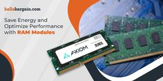 Hellabargain provides memory modules that offer a better heat dissipation rate. Enjoy speedy data transfers at low power consumption with RAM modules from Hellabargain, your eCommerce marketplace. #rammodules #computermemory #memorymodule Ram Module, Buy Computer, Memory Module, Save Energy, Ecommerce, Memories, Memoirs, Souvenirs, E Commerce