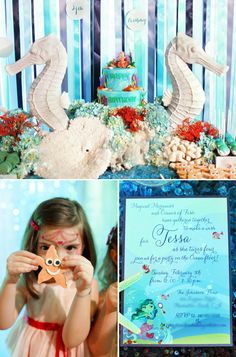mermaid party... perhaps someday for my little ariel. :)