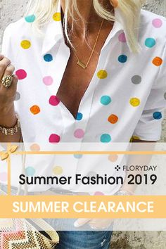 Make a full preparation for your summer wardrobe. Hot Outfits, Casual Outfits, Long Tunic Tops, Fashion Labels, New Fashion, Womens Fashion, Summer Wardrobe, Blouses For Women, Dot Patterns