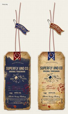 Resultado de imagem para label tag for jeans Typography Logo, Graphic Design Typography, Lettering, Vintage Packaging, Brand Packaging, Packaging Design, Vintage Tags, Vintage Labels, Label Design