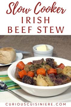 Our slow cooker Irish Beef Stew recipe brings simple ingredients together to create an incredibly comforting meal. Chowder Recipes, Chili Recipes, Pork Recipes, Slow Cooker Recipes, Crockpot Recipes, Irish Beef Stew Recipe, Traditional Irish Stew, Cheesy Chicken Spaghetti