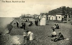 Bexhill The Beach circa 1910 Postcard(Digital Image)