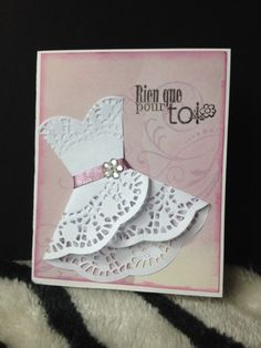 Etsy - Shop for handmade, vintage, custom, and unique gifts for everyone Paper Doily Crafts, Doilies Crafts, 3d Cards, Mothers Day Crafts, Handmade Birthday Cards, Mail Art, Diy Craft Projects, Wedding Cards, Card Making