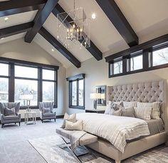Beams/ high ceilings in master bedroom