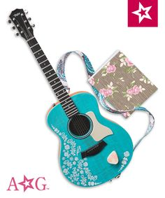 Tenney's Accessories To work toward her artistic goals, Tenney keeps two things close at hand: her trusty guitar, and a notebook for when songwriting inspiration strikes. Tenney's guitar can be strummed and plays three songs. It comes with a strap, plus a pick that Tenney can really hold. Her notebook features some of her song lyrics! $34