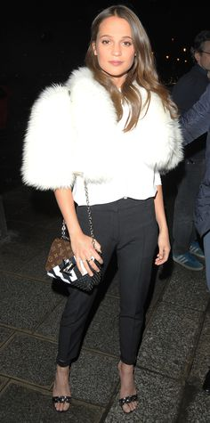Look of the Day - Alicia Vikander - from InStyle.com