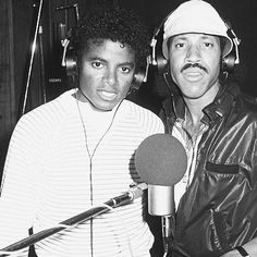 My two favorite singers and songwriters together michael and Lionel. # rebuildingmylife