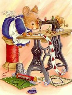sewing mouse is so cute! I could make some kind of decoration for the sewing roo… sewing mouse is so cute! I could make some kind of decoration for the sewing room 🙂 Sewing Art, Sewing Rooms, Free Sewing, Vintage Pictures, Cute Pictures, Vintage Ideas, Vintage Decor, Susan Wheeler, Marjolein Bastin