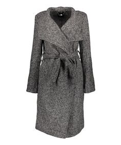 Look what I found on #zulily! Charcoal Heather Tweed Wrap Coat - Plus Too #zulilyfinds